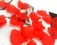 casamento de rosas vermelhas casamento favor venda por atacado-1000 pcs Hot Artificial Silk Rose Flor Pétalas Acessórios Do Favor Do Casamento Do Partido Decoração Do Evento