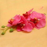 ingrosso orchidea-Clip di capelli delle donne della forcella del fiore sposa damigella d'onore di farfalla Orchidea clip di capelli accessoria del partito di modo della decorazione 2018