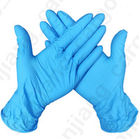 Wholesale rubber work gloves resale online - Disposable Work Nitrile Latex Gloves A Grade Without Powder Rubber Anti skid Anti acid Protective Gloves Household Cleaning Gloves D31601