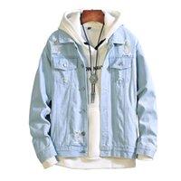 xxl männer weinlesejacke großhandel-Neue 2019 männer jeansjacke herren Bomber Jacken Männer hip hop Mann Vintage Denim Jacke mantel Streetwear Chaqueta Hombre S XL XXL