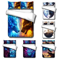 Wholesale tiger 3d bedding set resale online - Duvet Cover D Constellation lion wolf tiger starry sky animal Bedding Sets King Queen full Twin Size PillowCase