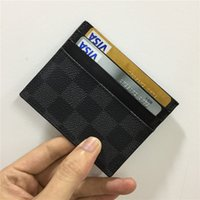 Wholesale womens luxury fashion purses resale online - designer card holder wallet mens womens luxury card holder handbags leather card holders black purses small wallets designer purse