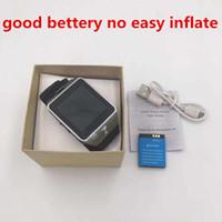 goldener uhrenpreis großhandel-Gute Batterie DZ09 intelligente Uhr-Großhandelspreise mit HD-Anzeigen-Unterstützungsmusik-Spieler-Telefon, das sitzende Anzeige anruft freies Verschiffen