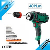 Wholesale cord release resale online - 40 N m Corded Power Drilll in Electric Drills with mm Quick Release Chuck m Cord Screwdriver Accessory V Torque Drill Tool