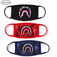 Wholesale girls face masks for sale - Group buy Shark Face Mask cotton mask funny Anti dust Face mask Ski Cycling Camping Half Face Mouth Masks for Boys and Girls