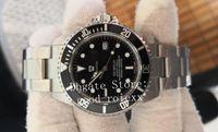 relojes mecánicos de época al por mayor-Reloj vintage de hombre BP Factory 2813 Relojes de movimiento Hombres mecánicos 16600 Aleación Bisel Mar Deporte Dweller 116600 Relojes perpetuos
