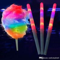 decoração de casamento de borgonha venda por atacado-Novo LED Algodão Doce Brilho Glowing Sticks Light Up Piscando Cone Fada Floss Vara Da Lâmpada Decoração de Festa Em Casa