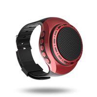 Wholesale bluetooth speaker watches resale online - New U6 Watch Bluetooth Speaker with LED Light Sports Portable Mini Speakers FM Radio Bluetooth EDR Stereo HiFi Watch Loudspeaker