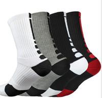 serviettes usa achat en gros de-UE États-Unis Hommes de basket-ball professionnel Elite Chaussettes Elite Sport Towel Outdoor Recreation Cotton Crew Chaussettes montantes