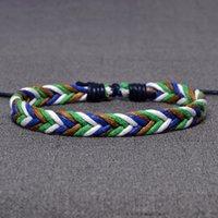 brazaletes de cuerda al por mayor-Distintos tipos de colores de cera de Cuerda BraceletsBangles pulseras de la amistad de las mujeres cuerda trenzada cuerda de la secuencia pulsera Beach Pulseras joyería