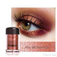 brilho de olho solto venda por atacado-Focallure 12 Cores Da Marca Glitter Sombra Em Pó Solto Shimmer Eyeshadow 3D Nu Metálico Sombra de Olho Maquiagem Cosméticos Atacado 1226040
