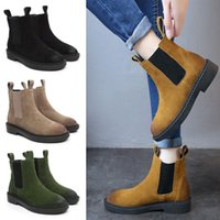 línea más suave al por mayor-Tobillo de las mujeres Martin Short Boots 100% cuero Zapatos Cowskin motocicleta Smooth botas de invierno suave lana forrada bota plana zapatos sin cordones C103105