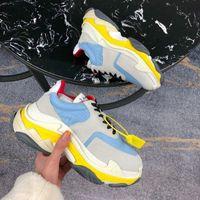 botas us14 venda por atacado-Designers de moda de luxo sapatos casuais triplo s designer baixo pai velho sneaker combinação solas botas homens mulheres sapatos de qualidade superior