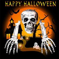 cabeça de cabeça de esqueleto venda por atacado-Decoração 3pcs decoração do Dia das Bruxas Props Animal Skeleton Horror Chefe Mão do osso Ornamentos Hallowmas Horror assombrado House Party