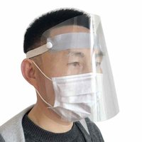 Wholesale full face mask shield for sale - Group buy In Stock Protective Mask Adult Dustproof Cover Face Shield Transparent Full Face Masks Anti Dust Respirator Free Ship Elastic