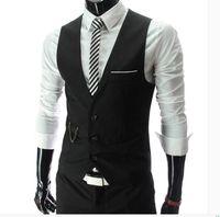 i̇ngiliz giyim eşyası erkekleri toptan satış-Erkek takım elbise yelek erkek giyim ince takım elbise yelek siyah yaz rahat İngiliz tarzı küçük erkek