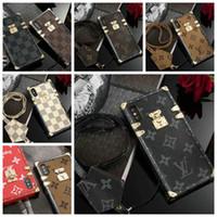 ingrosso auricolari personalizzati diy-Nuova copertura del telefono mobile di marca designer per iPhone 7 7plus 8 8plus 6 6S 6plus Xs max X Xr TPU morbido silicone con cordino goophone 11 pro max
