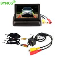 Wholesale 4.3 inch lcd tft car for sale - Group buy BYNCG Inch TFT LCD Car Monitor Foldable Monitor Display Reverse Camera Parking System for Car Rearview Monitors NTSC