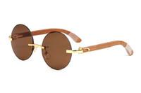 mens azul óculos venda por atacado-óculos de armação de madeira branca designer óculos cor de rosa luxo azul brilhante óculos womens leitura eyeware mens óculos de golfe