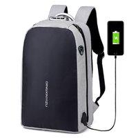 mochilas para laptop al por mayor-Mochila College School, mochila impermeable anti ladrón con puerto de carga USB y conector para auriculares portátil de 15,6 pulgadas (gris negro)