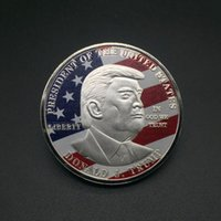 Wholesale Donald Trump Gold Coin Commemorative Coin Make America Great Again Coin th President Election Metal Badge Craft Supply VT0635
