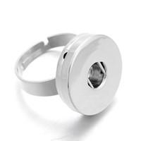 noosa 12mm knöpfe großhandel-Xinnver 18mm 12mm Noosa Snaps Rings Schmuck Silber Runde Druckknöpfe Noosa Chunk Rings Jewelry Fit 18mm 12mm Druckknöpfe für Mädchen ZH031