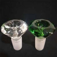 acessórios de vidro bong venda por atacado-14.4mm e 18MM de água Bong Fittings Diamond Tipo de plataforma de petróleo 2019 Limpar e cor verde vidro inebriante Sturdy