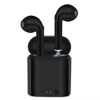 беспроводной наушник для ipad оптовых-I7S TWS беспроводные наушники Bluetooth наушники портативный наушники-вкладыши наушники для iPad Android беспроводные наушники и заряд случае
