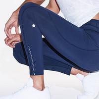 bayanlar için yoga pantolonları toptan satış-Yüksek Bel pantolon Lu-016 Koşu Kadınlar Yoga Pantolon Bayanlar spor Tam Tozluklar Egzersiz Fitnes Giyim Kız