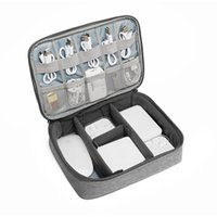 ipad zubehör taschen großhandel-Zubehör Tragetasche Gadget Bag Travel Cable Fall Electronics Organizer für ipad / Ladegeräte / Kabel / Powerbank / Hard Drive