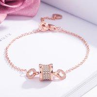 bracelet taille achat en gros de-Bracelet en cristal super flash à la taille et aux diamants Bracelet en plaqué or rose 18 carats plaqué or rose Version coréenne de bijoux simples