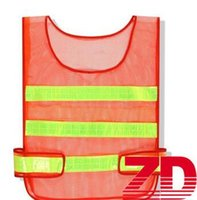 Wholesale reflective safety vest online - Safety Clothing Reflective Vest Hollow grid vest high visibility Warning safety working Construction Traffic vest fast shipping