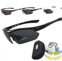 equipamento de esportes de proteção venda por atacado-2019 3 lentes polarizadas esportes ao ar livre UV400 óculos de bicicleta para homens mulheres óculos de sol à prova de vento e míope, óculos de proteção para ciclismo
