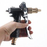 wasserpistole für autowäsche großhandel-Einstellbare Kupfer Schlauch Sprühdüse Gun Gartenschlauch Wasserdruckwaffen Für Gartenbewässerung