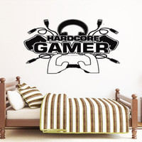Wholesale video games media for sale - Group buy Hardcore Gamer Wall Sticker Vinyl Home Decor For Teens Boys Bedroom Playroom Dorm Game Controller Decals Video Games Murals