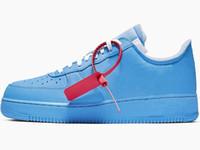zapatos de baloncesto de calidad aaa al por mayor-Bajo 1 MCA azul del hombre de baloncesto zapatos de diseño Hermoso d10 Universidad Azul Blanco Rojo Plata metálica manera de la mujer zapatillas de deporte de alta calidad