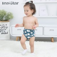Wholesale cute girls diapers for sale - Group buy 2pcs Baby Diaper Cute Child Boys Girls Cotton Training Pants Cloth Diaper Washable Reusable Nappy Waterproof Baby Cloth