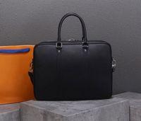 Wholesale vintage briefcases resale online - designer handbags man business briefcases high quality designer bags real leather LoVely modern handbag lock key style purse