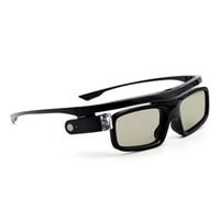 3d gözlük tasarımı toptan satış-Katlanabilir Ergonomik Tasarım Aktif Deklanşör LCD Lensler Evrensel USB Şarj Edilebilir Ev Kullanımı 3D Gözlük Görsel DLP Link Projektör Için