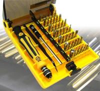 kit de herramientas mini destornillador al por mayor-Juego de destornilladores de precisión Torx de 45 en 1 para el kit de herramientas de reparación de computadoras portátiles del teléfono celular juego de destornilladores pequeños Herramientas de reparación de multibits