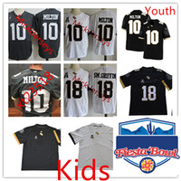 Wholesale college football jersey youth for sale - Group buy Youth NCAA UCF Knights McKenzie Milton College Football Jersey Kids Stitched White Grey Blank Shaquem Griffin UCF Knights Jerseys S XL