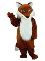 костюмы талисмана лисы оптовых-2019 FOX костюм талисмана необычные платья на заказ необычные костюмы