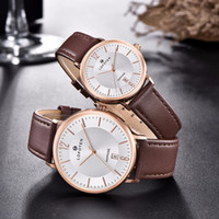 Wholesale sapphire strap dress resale online - Sapphire Luxruy Rose gold designer Fashion Leather strap Lovers Stainless Steel Womens Water Proof Quartz Watch Dress Watches Wristwatches