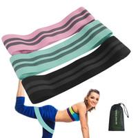 bant kas toptan satış-Direnç Bantları Egzersiz Bantları Ağır Streç Bantlar Bacaklar için Pamuk Direnç Döngü Bant Butt Vücut, Yoga, Pilates, Kas Eğitimi M429F
