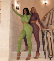 trajes de saltadores al por mayor-De lujo ropa de calle del estilo de diseñador de las mujeres juegos atractivos Digital Impreso 2Piece Trajes Marca chándal Jumper Pant fijaron el equipo caliente de la venta 1