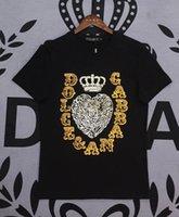 t-shirts der qualitätsmänner großhandel-Dolce Shirt Herren Designer T-Shirt Gabbana Top Qualität T-Shirts DG Boutique Baumwolle T-Shirts Trend Marke T-Shirt M-XXXL Outdoor Sport T-Shirts T-Shirt