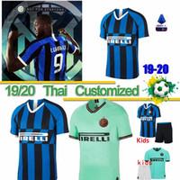 xxxl futbol topları toptan satış-Tay Inter S-4XL 2020 Milan futbol forması Lukaku Icardi Lautaro SKRINIAR GODIN Barella Perisic Nainggolan formaları futbol üst kiti gömlek