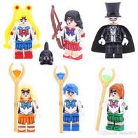 Wholesale popular toys for girls resale online - Popular Kitoz Sailor Moon Jupiter Mars Venus Chiba Mercury Mamoru Mini Toy for Girl
