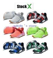 zapatos de bádminton en línea al por mayor-Las superficies de Pharrell Williams Hu en cuadros rojos, cuadros verdes, cuadros azules, Stock Streetwear yakuda tienda en línea. Zapatos para correr de raza humana,