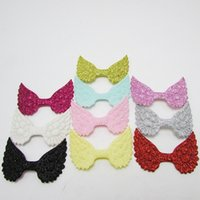 Wholesale diy jewelry cards for sale - 10 colors Glitter Angel Wing Handmade DIY Jewelry Accessories Cake Card Accessories Little Girl Hairpin Material